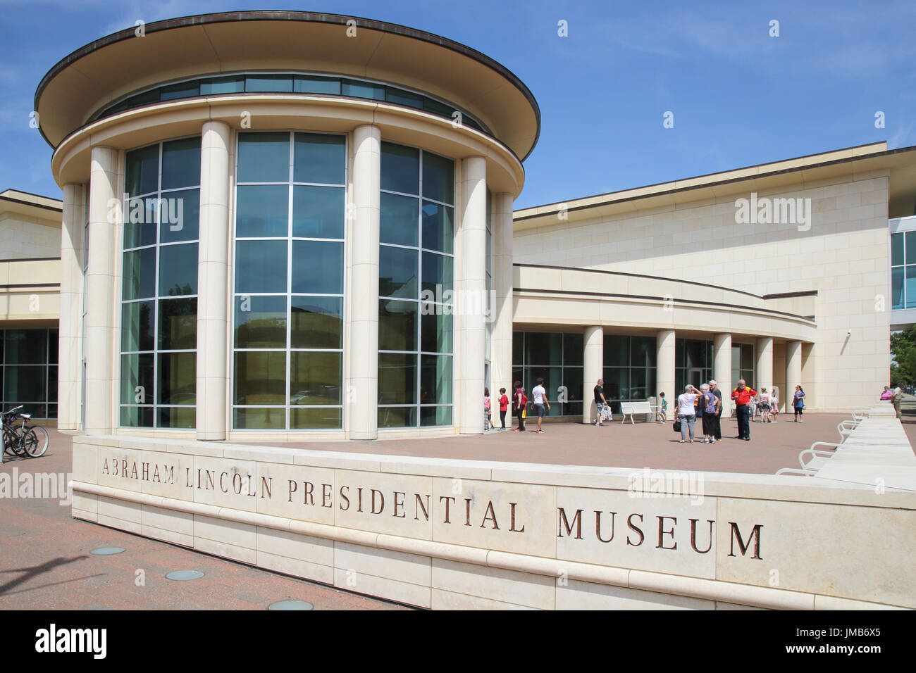 abraham lincoln presidential museum springfield illinois - Stock Image
