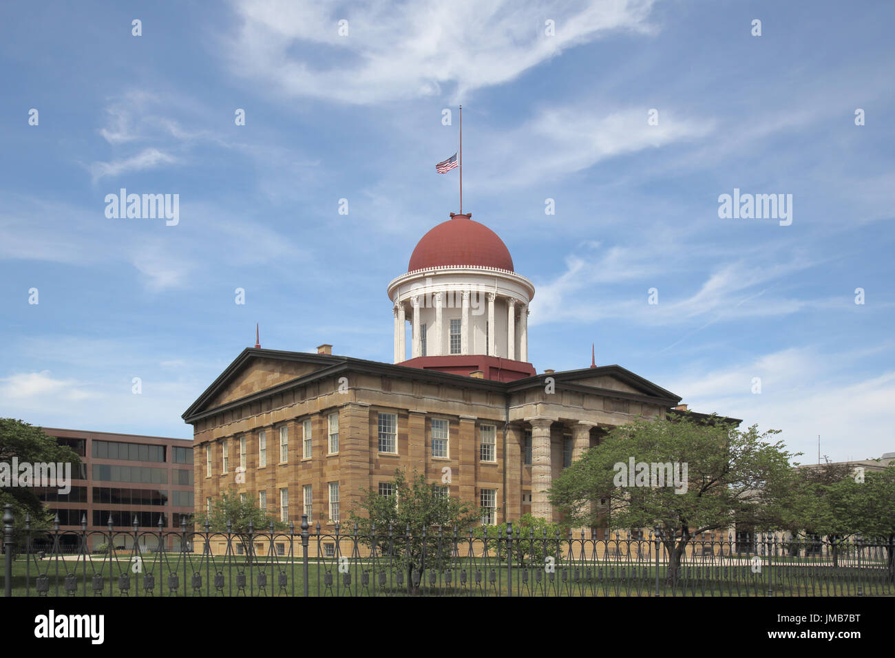 old state capitol building springfield illinois - Stock Image