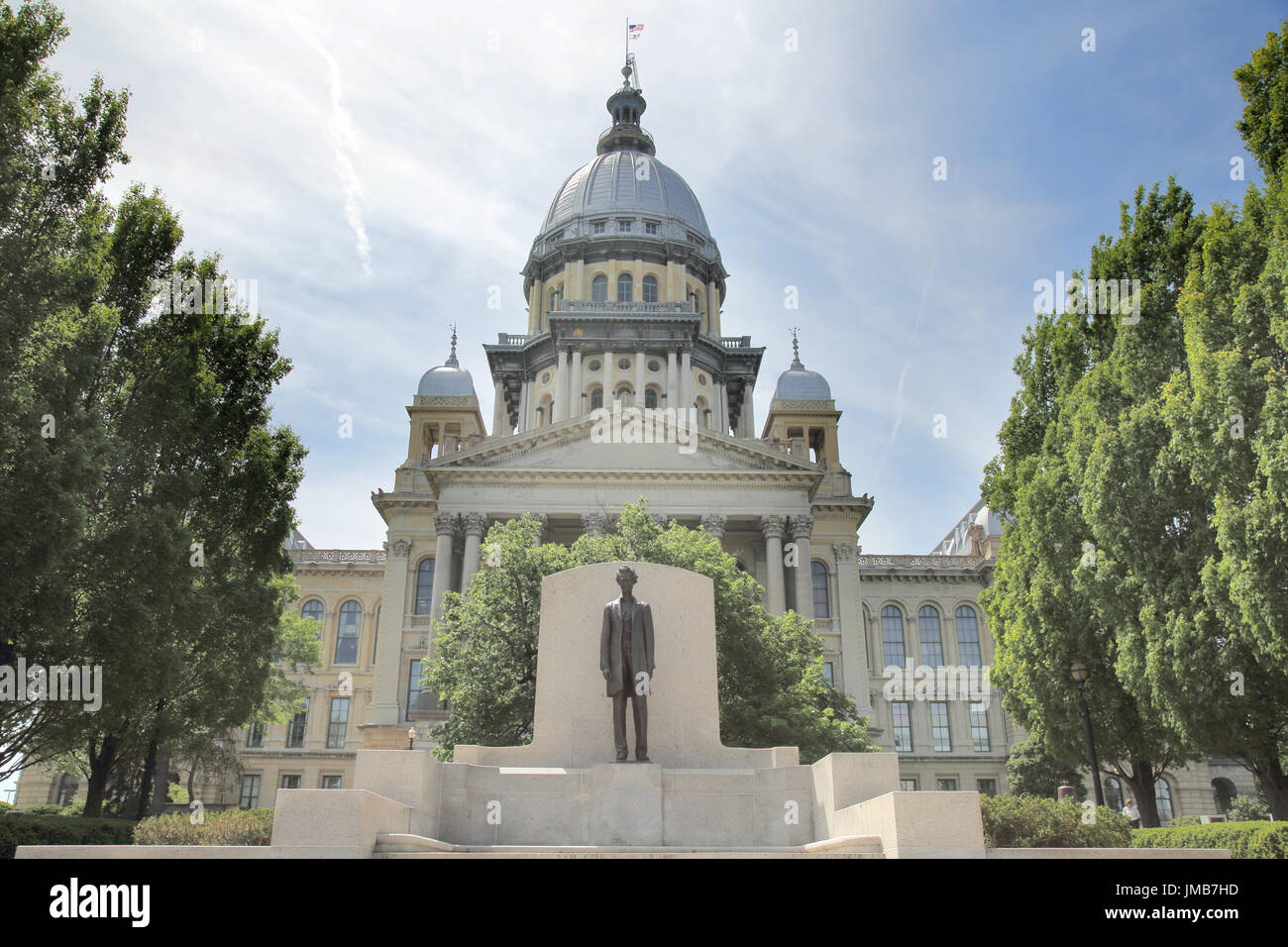 state capitol building springfield illinois Stock Photo