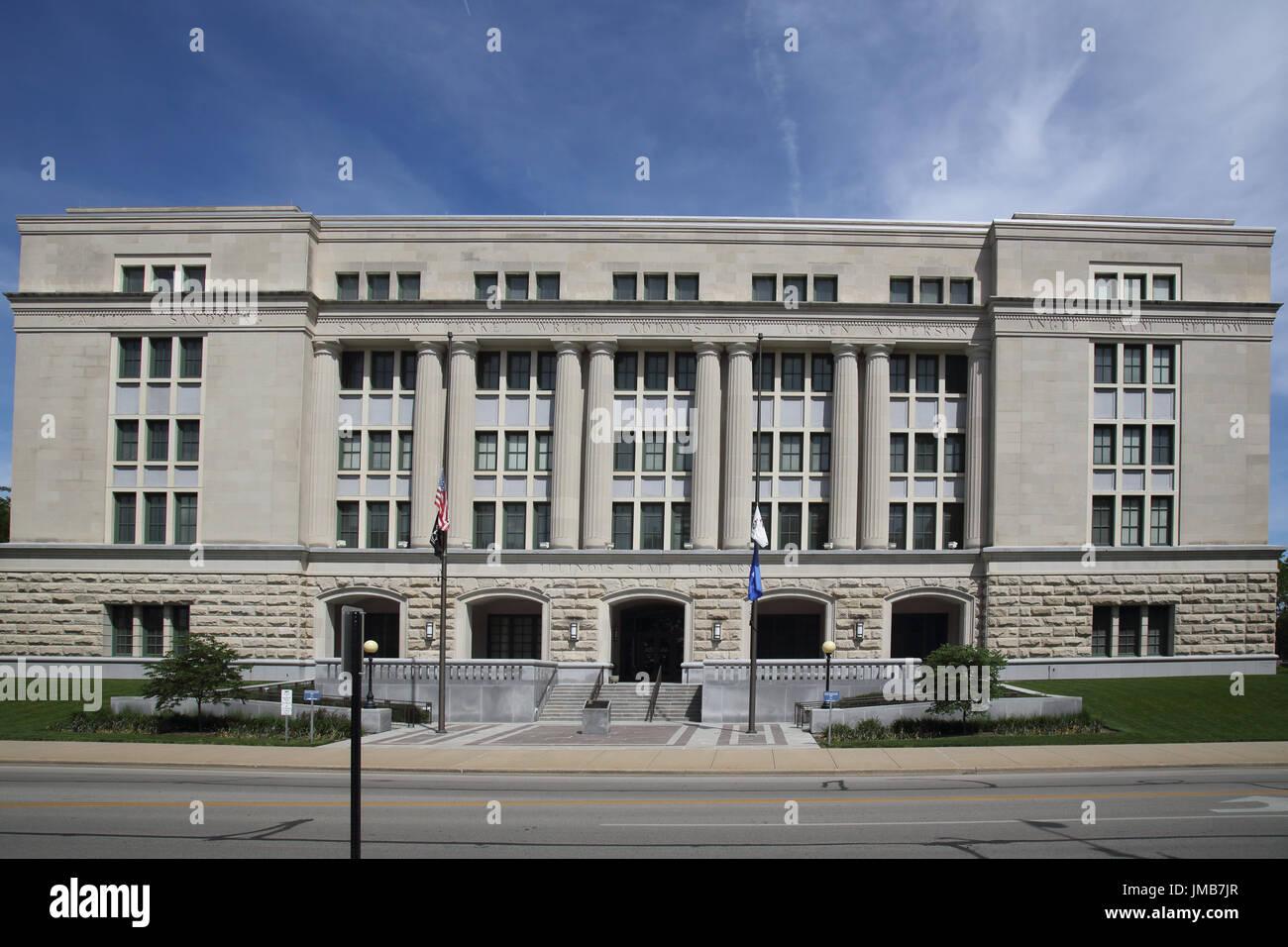 springfield illinois state library usa - Stock Image