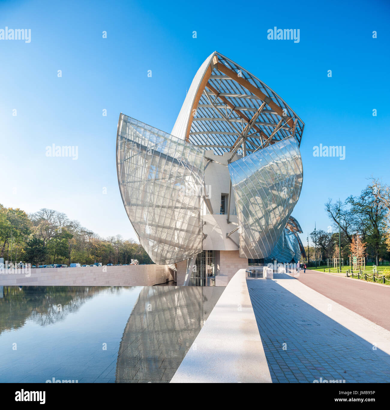 France, Paris, Fondation Louis Vuitton foundation Stock Photo