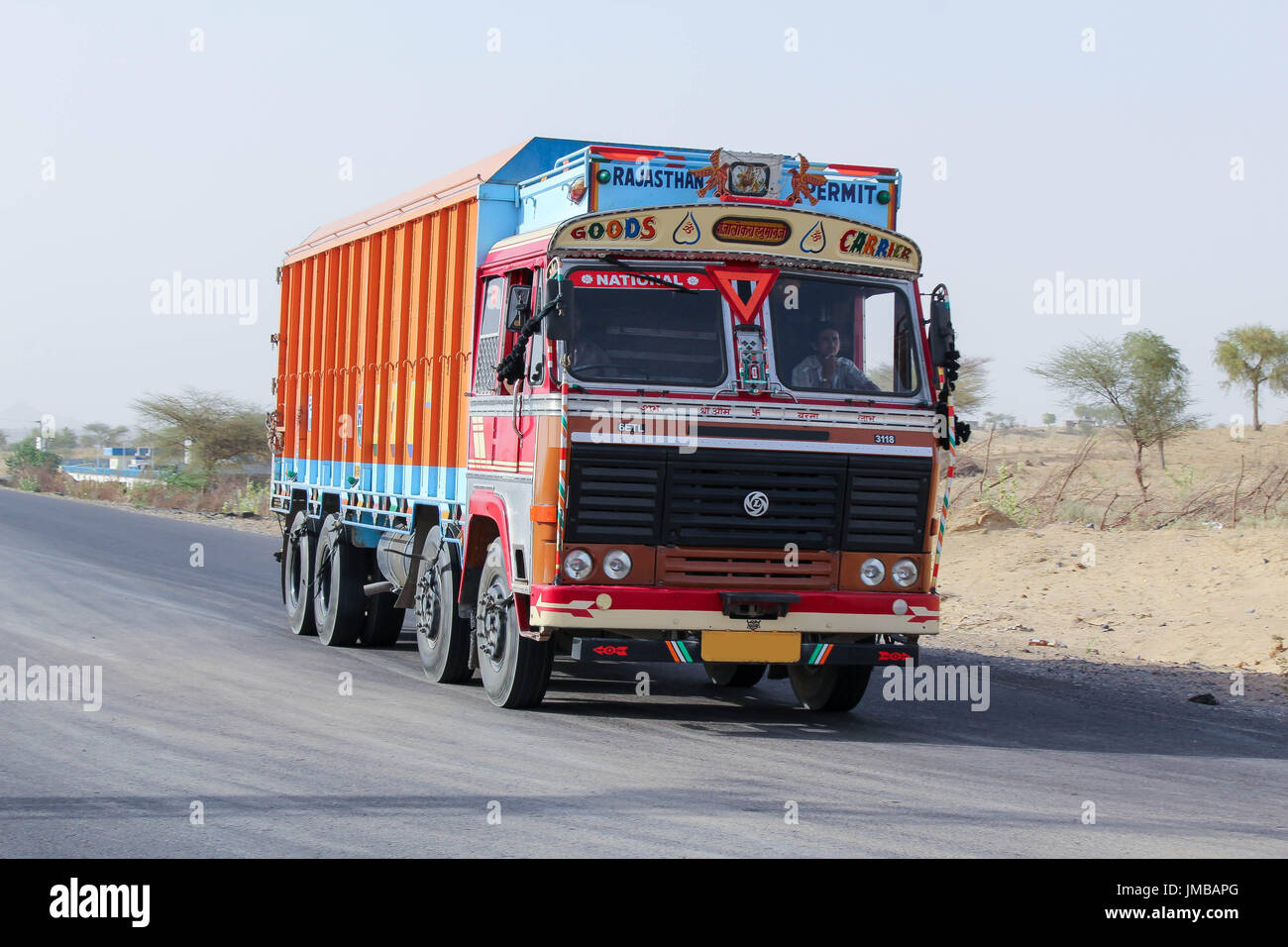 Rajasthan Truck - Indian Truck - Stock Image