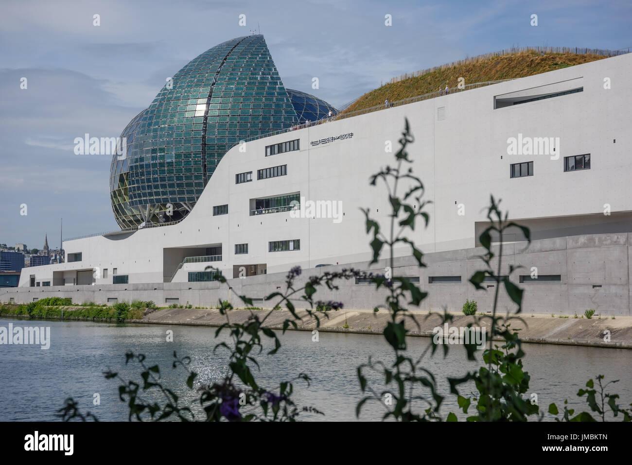 Paris, Ile Seguin, Konzerthalle 'Seine Musicale', Jean de Gastines und Shigeru Ban, 2017 - Stock Image