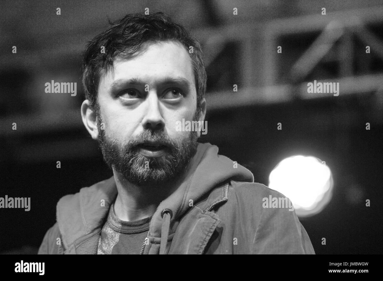 Tim McIlrath Rise Against KROQ air interview 2007 KROQ Almost Acoustic Christmas Gibson Ampitheatre Universal City,Ca. - Stock Image