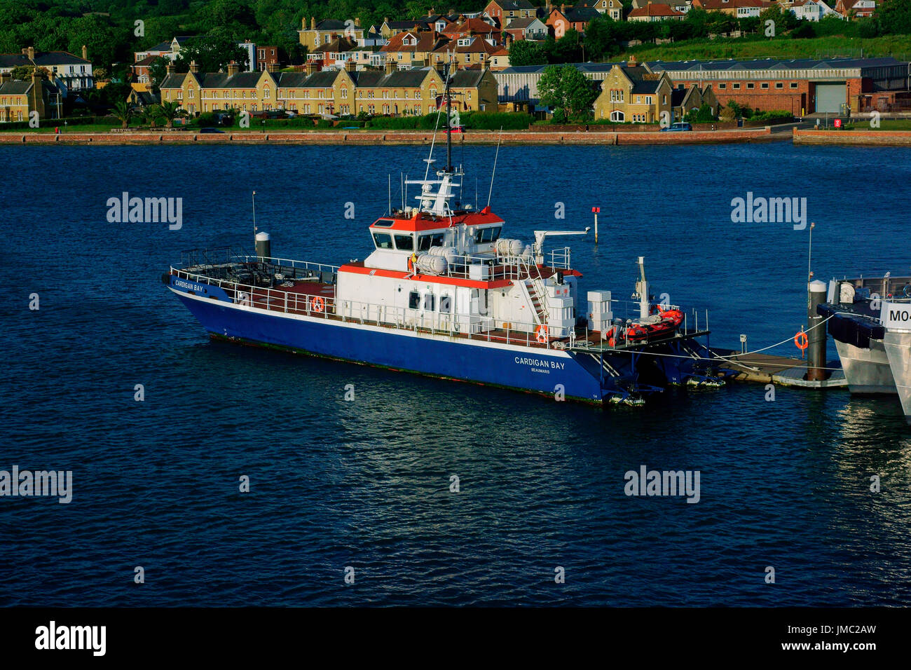 'CARDIGAN BAY' (BEAUMARIS) MOORED EAST COWES. - Stock Image