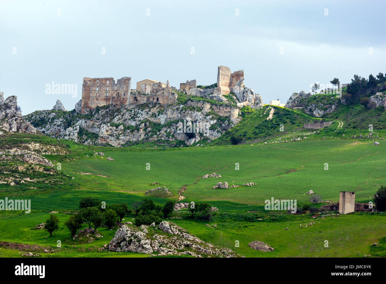 Abandon rural farm in Sicily, Italy - Stock Image