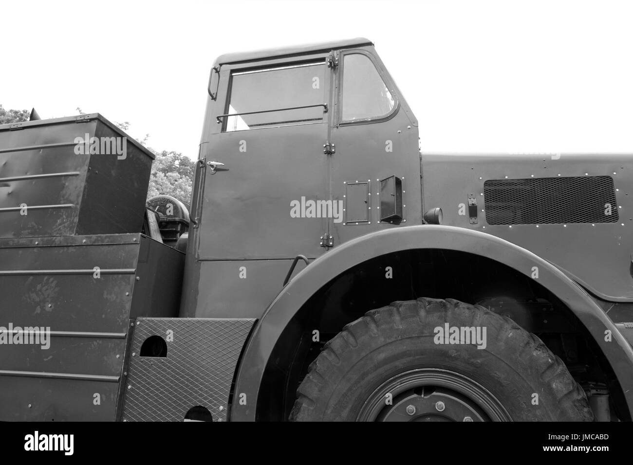 26thJuly 2017 - British Army Thronycroft Mighty Antar MkII, a restored version at the REME museum car park. - Stock Image