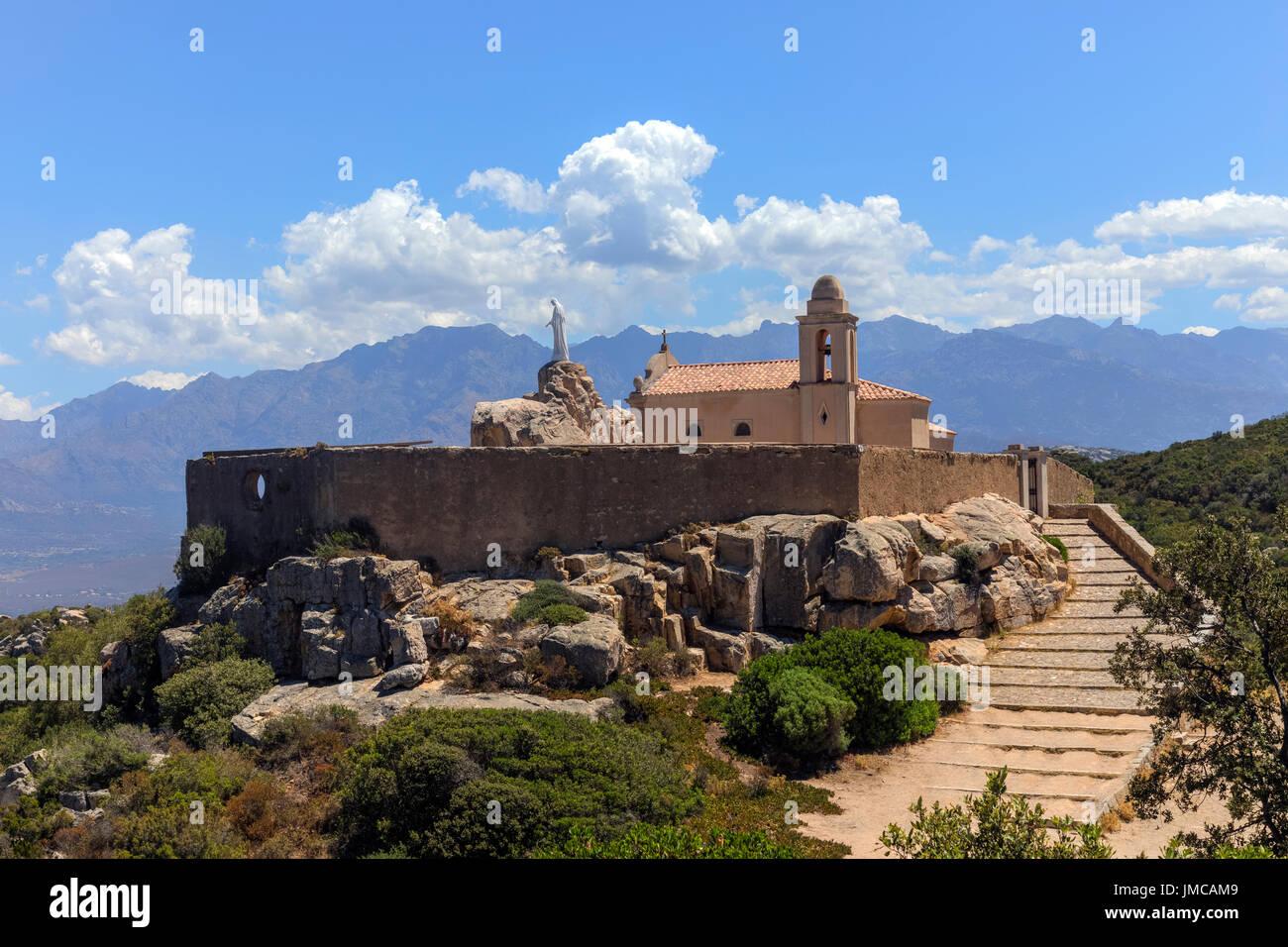 Notre Dame de la Serra, Calvi, Corsica, France - Stock Image
