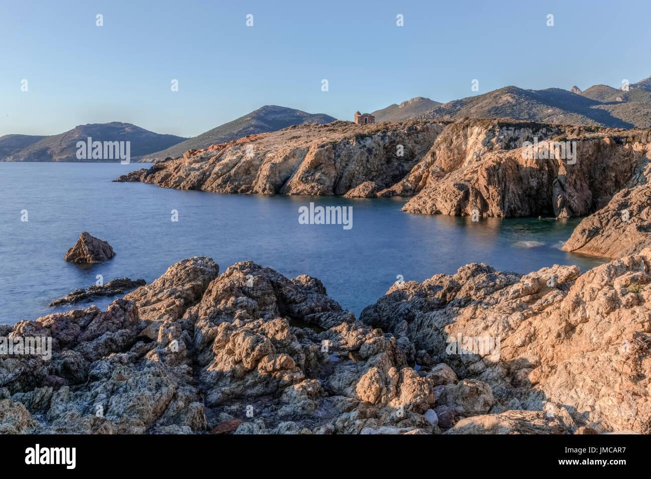 Galeria, Haute-Corse, Corsica, France - Stock Image