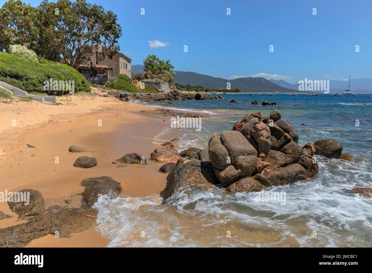 Porto Pollo, Gulf of Valinco, Corsica, France Stock Photo