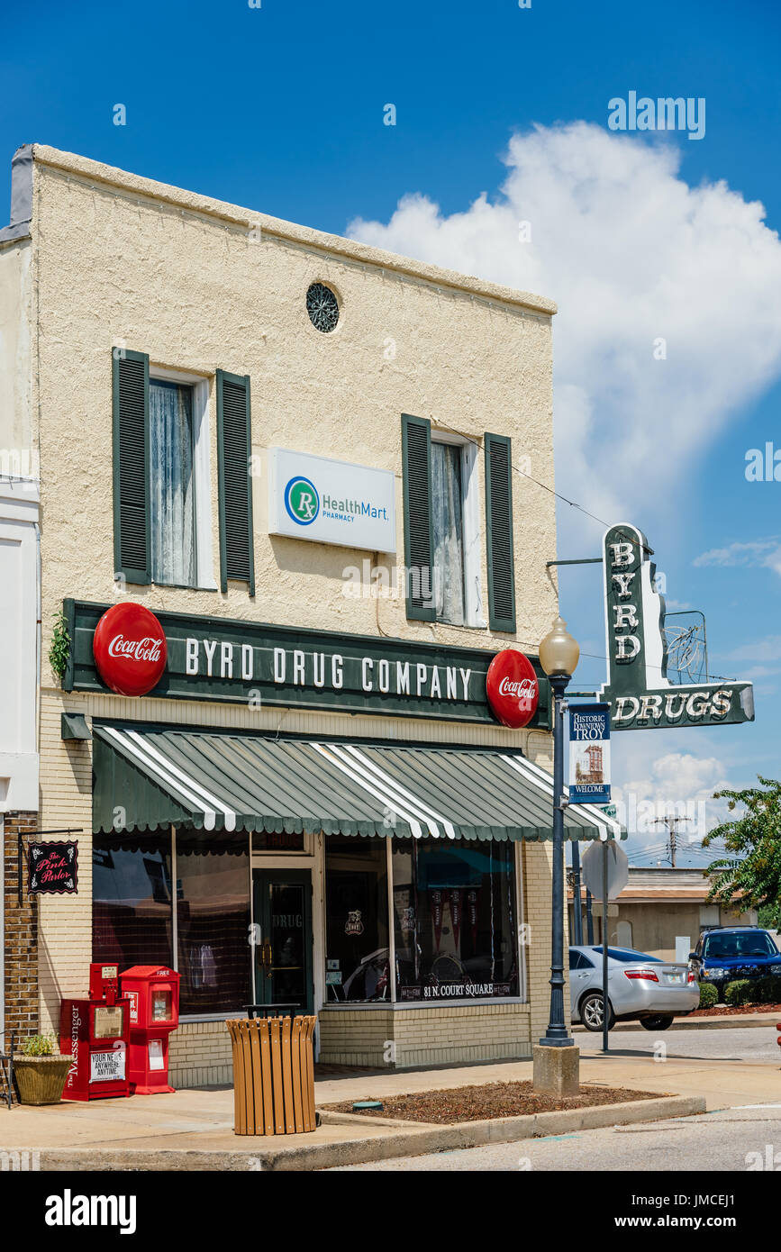 Byrd Drug Company a small town drug store and pharmacy in