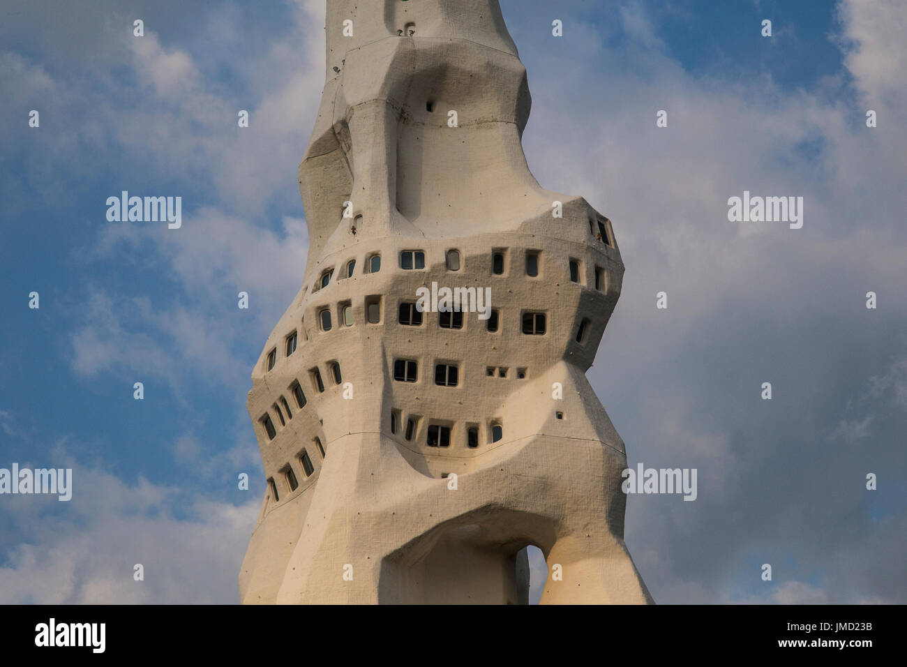 What may appear to be cultish and weird, the PL Peace Tower and the religious belief behind it is actually interesting and doesn't sound as creepy as  - Stock Image