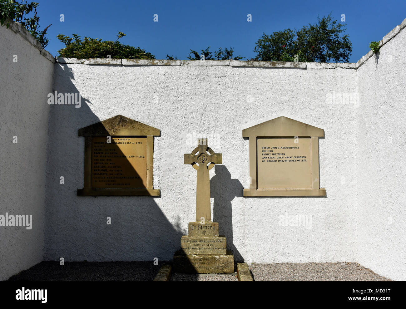 The Marjoriebanks Mausoleum. Coldstream. Scottish Borders, Berwickshire, Scotland, United Kingdom, Europe. Stock Photo