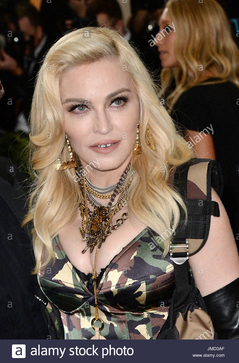 """File photo dated 01/05/17 of Madonna who along with her adopted twin daughters Stella and Estere has accepted undisclosed damages from Associated Newspapers at the High Court over a """"serious invasion of privacy"""". - Stock Image"""