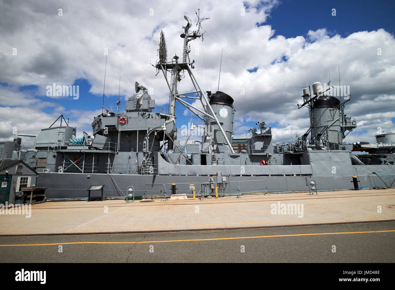 uss cassin young at Charlestown navy yard Boston USA - Stock Image