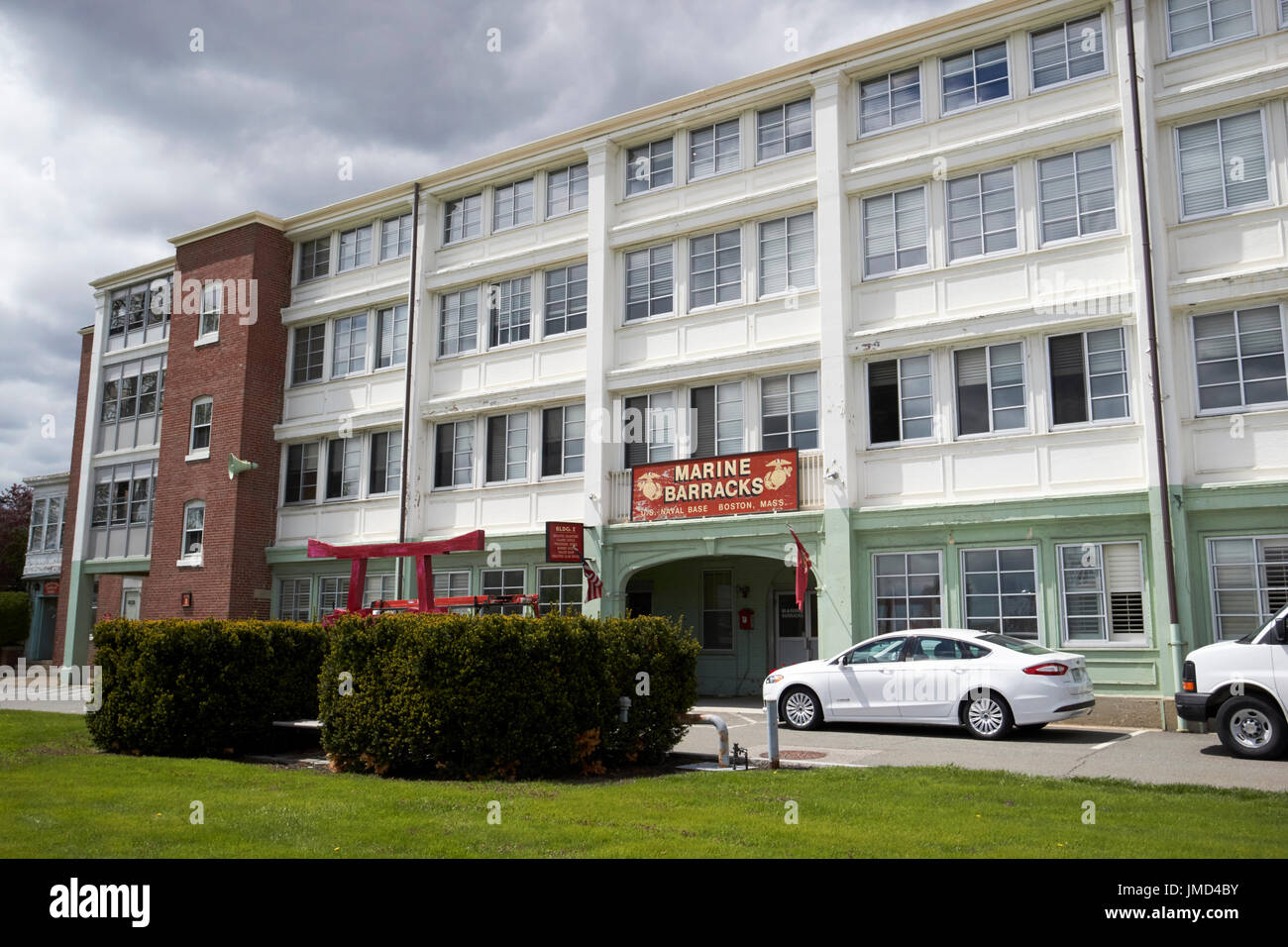 USMC marine barracks Charlestown navy yard Boston USA - Stock Image