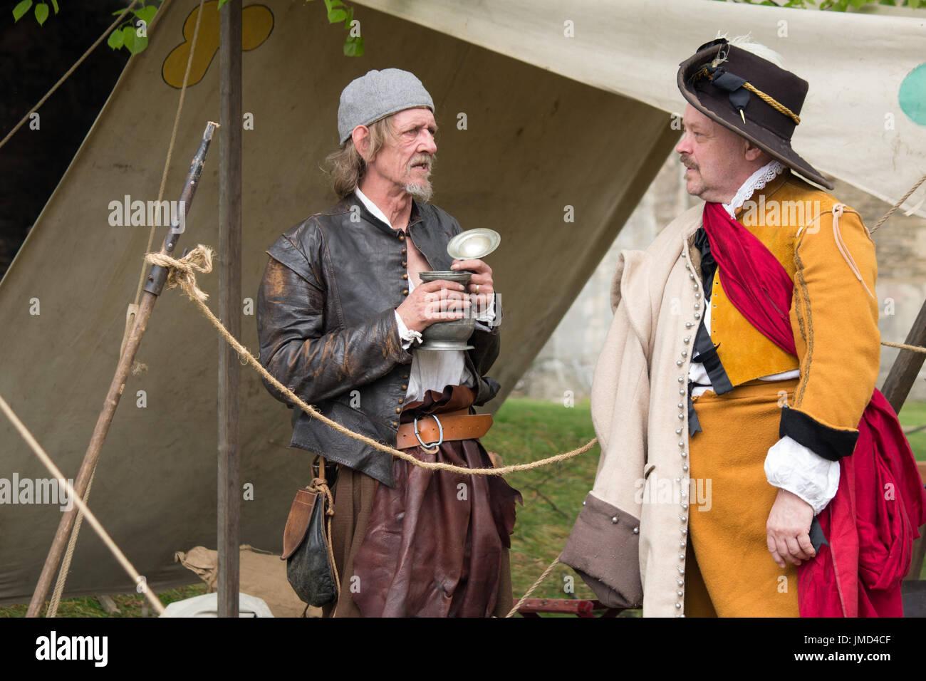 English Civil War re-enactment in Newark on Trent Castle - Stock Image