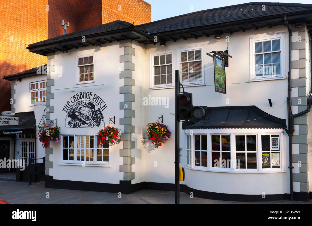 The Cabbage Patch / local pub / public house. Twickenham UK; busy / crowded / popular venue on rugby match days. - Stock Image