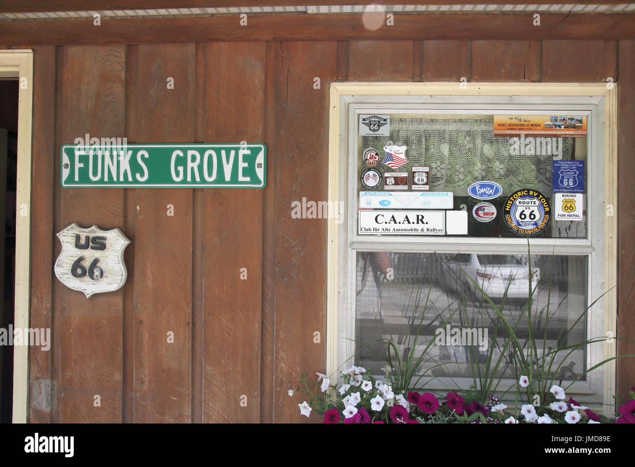 funks grove maple sirup route 66 illinois - Stock Image