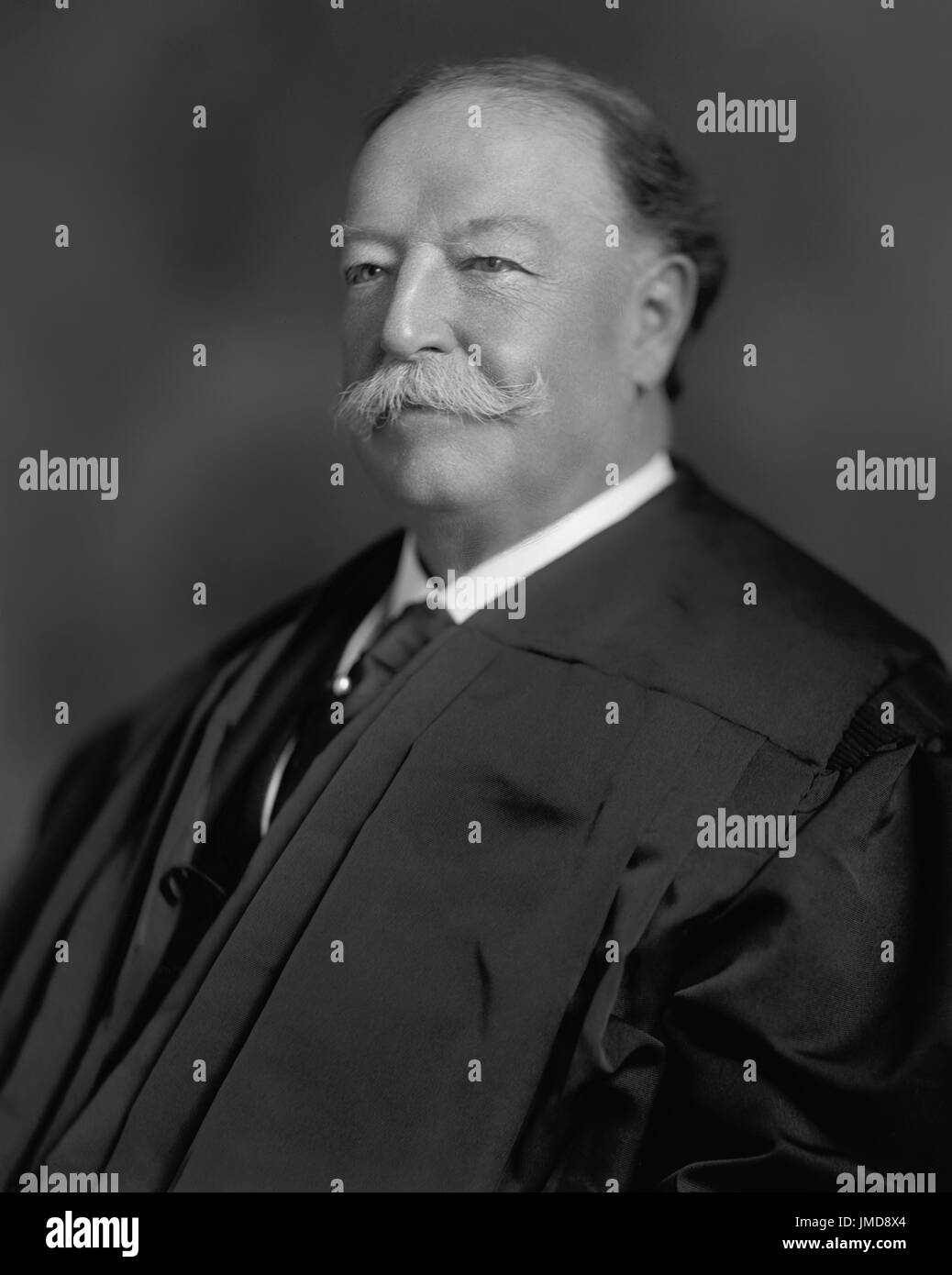 William Howard Taft, Head and Shoulders Portrait as Chief Justice of the U.S. Supreme Court, Harris & Ewing, 1921 - Stock Image
