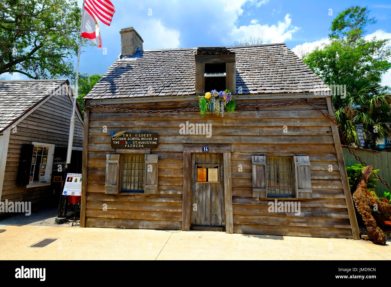 Oldest wooden school house in America in the St George