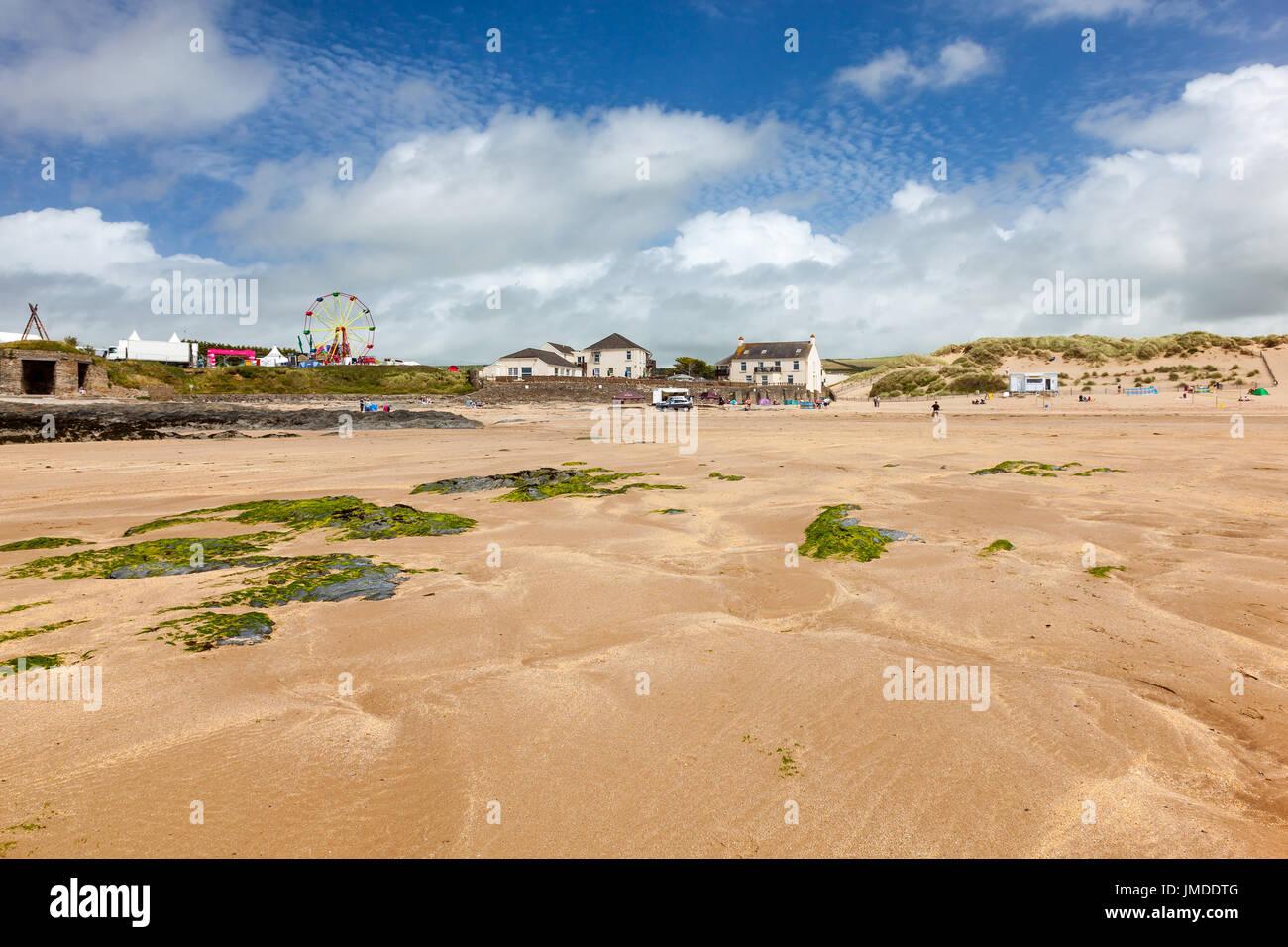 Beautiful golden sandy beach at Croyde Beach Devon England UK Europe Stock Photo