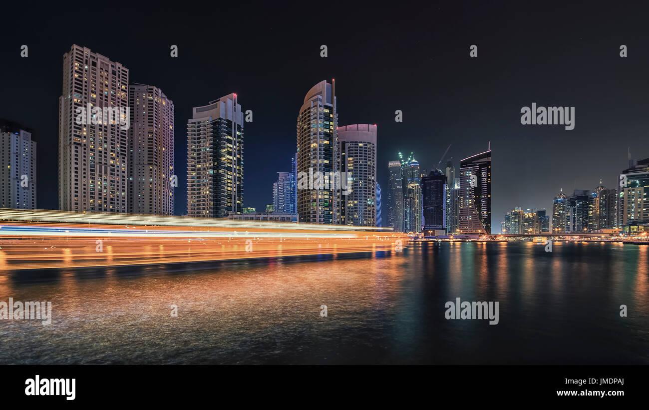 Dubai Marina cityscape - Stock Image