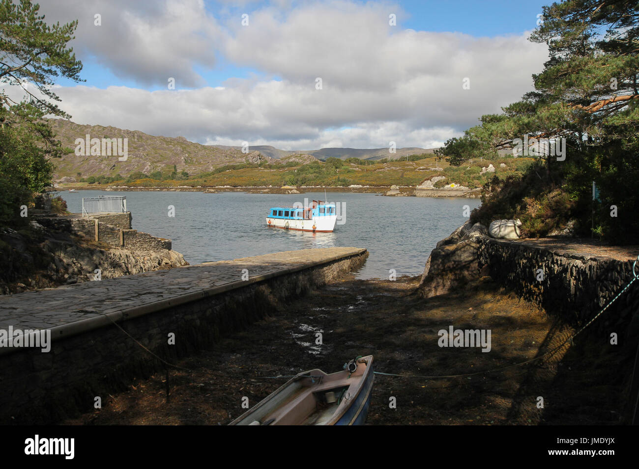 Passenger ferry at Garnish Island in Bantry Bay, West Cork, Ireland. - Stock Image