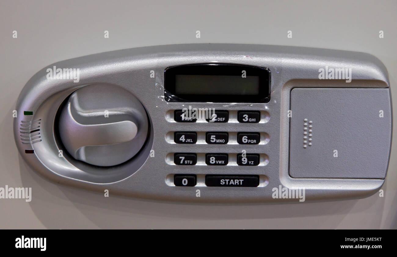 Safety locker keypad - Stock Image