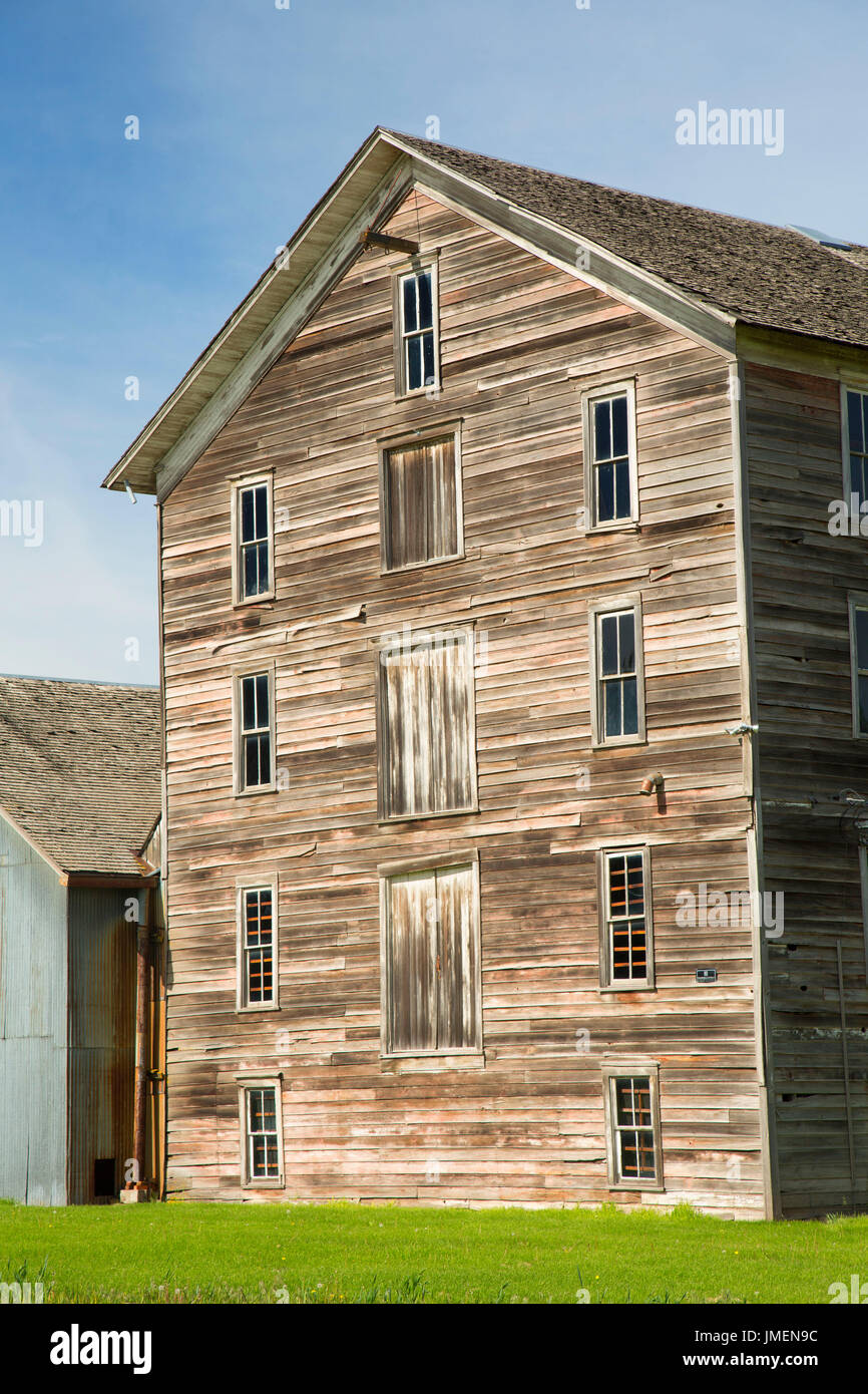 J. C. Barron Flour Mill, Oakesdale, Palouse Scenic Byway, Washington - Stock Image