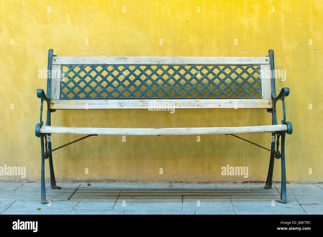 Wooden Seat Against Wall Stock Photos Amp Wooden Seat