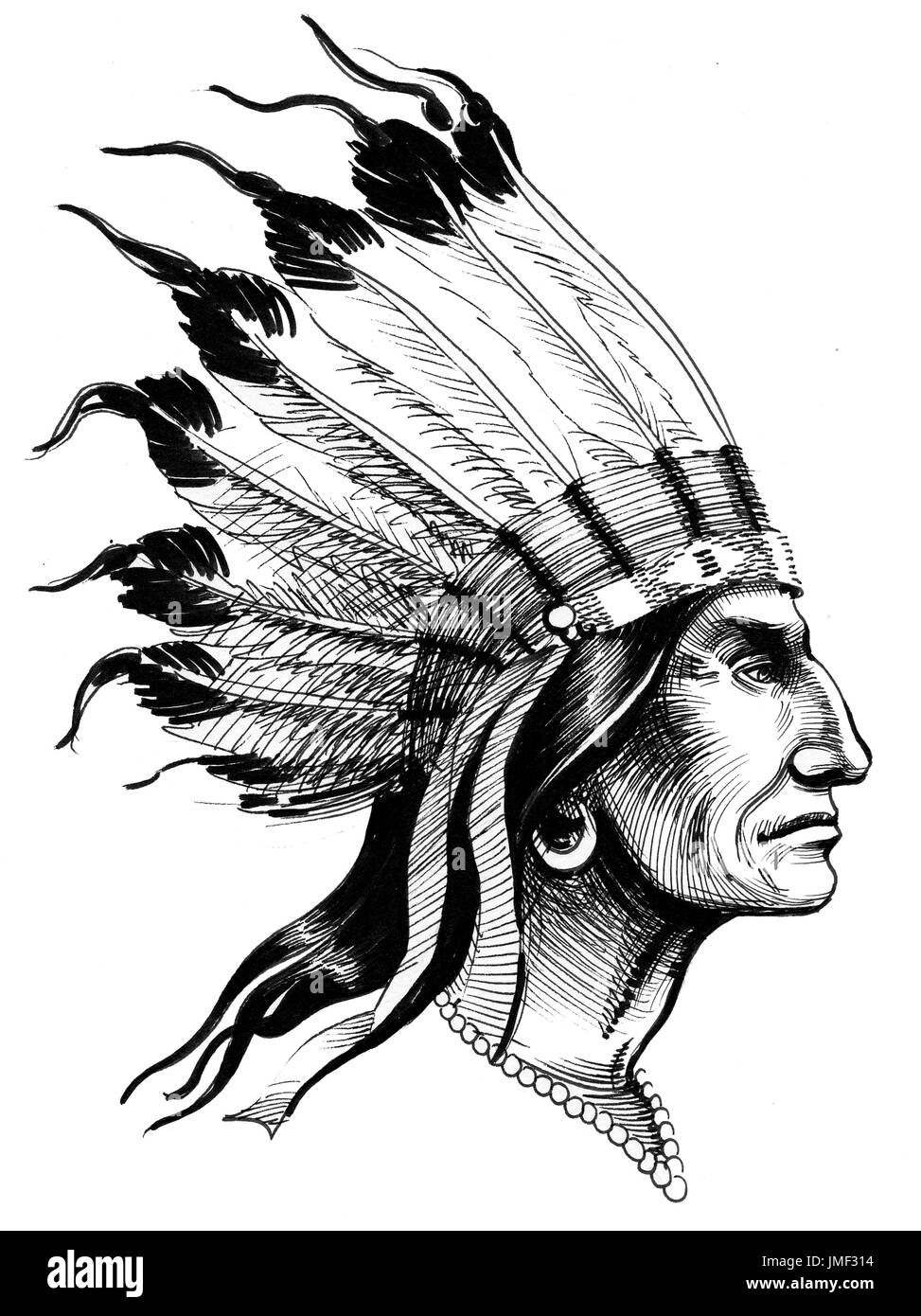 Native American - Stock Image