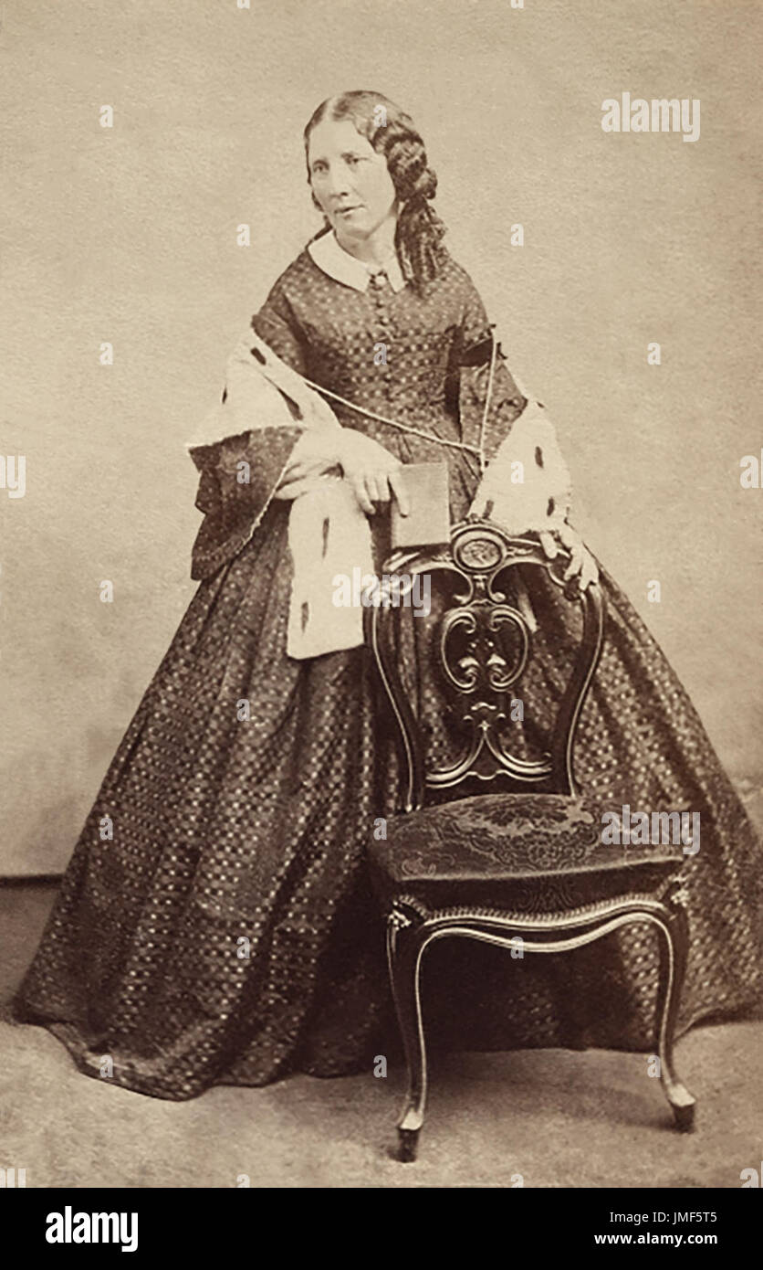 Harriet Beecher Stowe (1811-1896) was an American abolitionist and author, best known for her novel Uncle Tom's Stock Photo