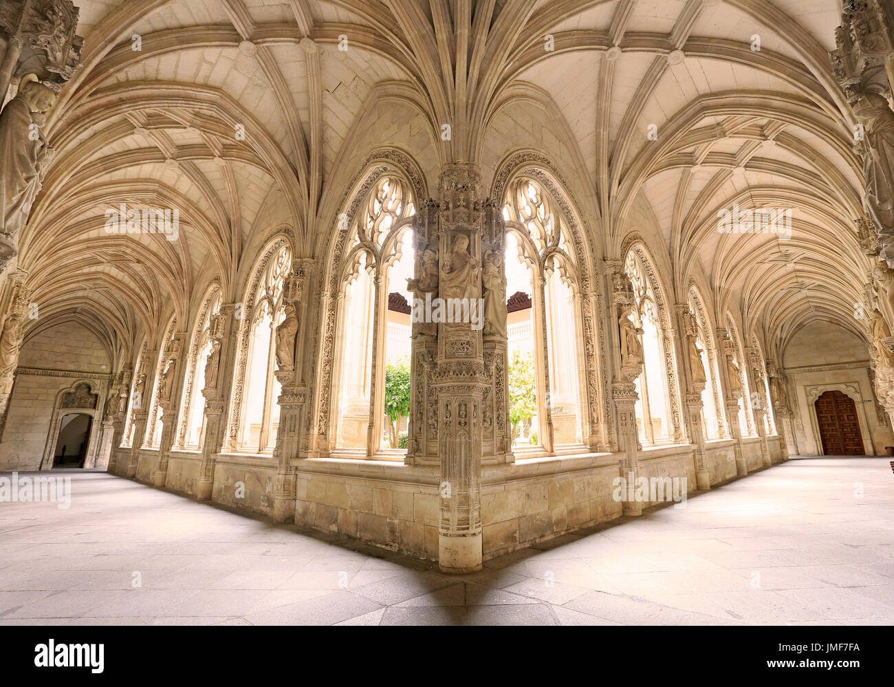 TOLEDO, SPAIN - JUNE 27, 2017: Atrium of Monastery of San Juan de los Reyes. The monastery is an Isabelline style monastery in Toledo. - Stock Image