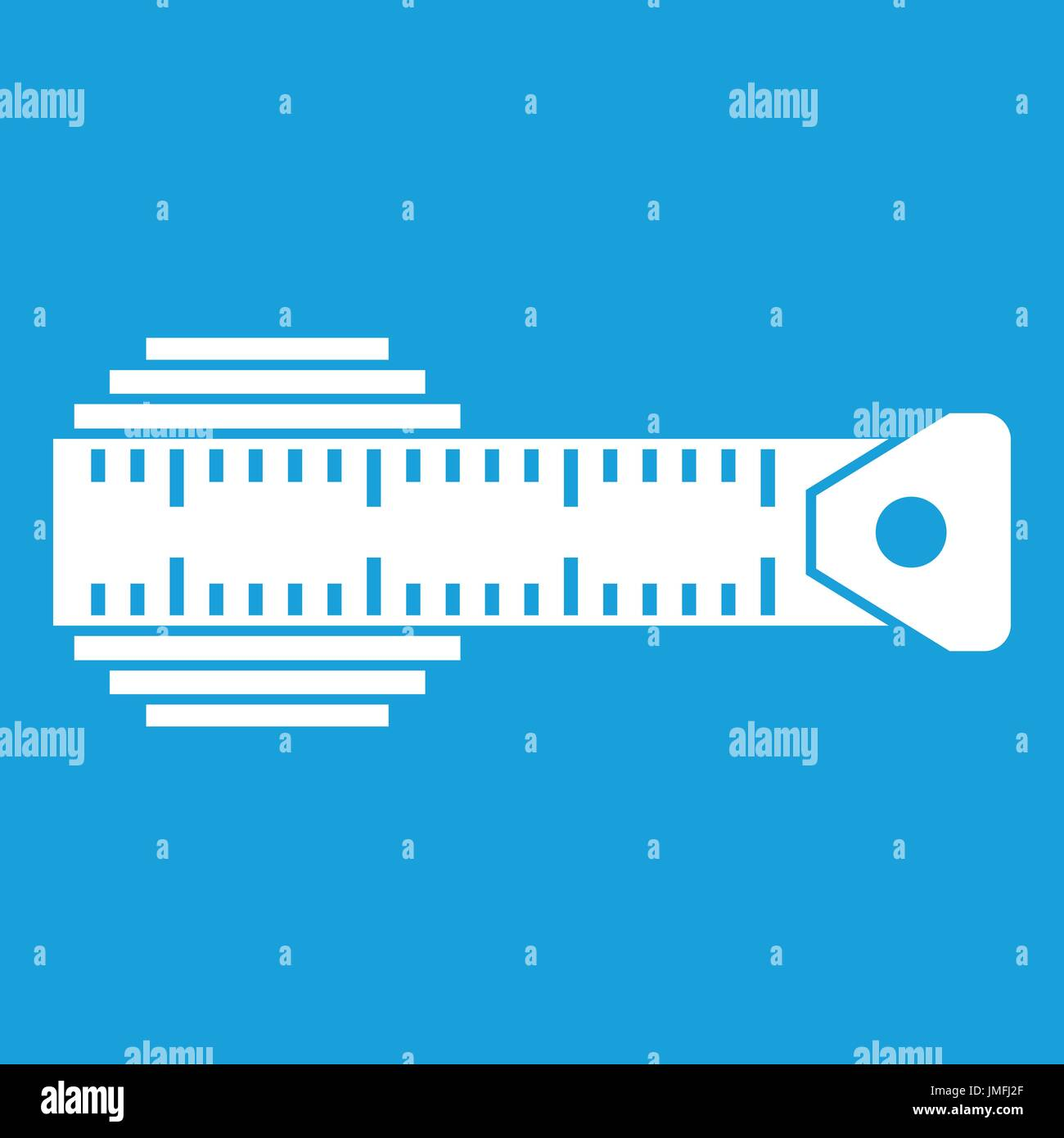 Measuring centimeter icon white - Stock Image