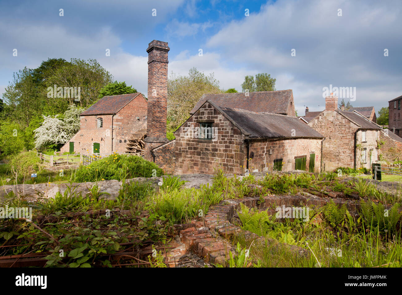 Cheddleton Flint Mill, Staffordshire - Stock Image