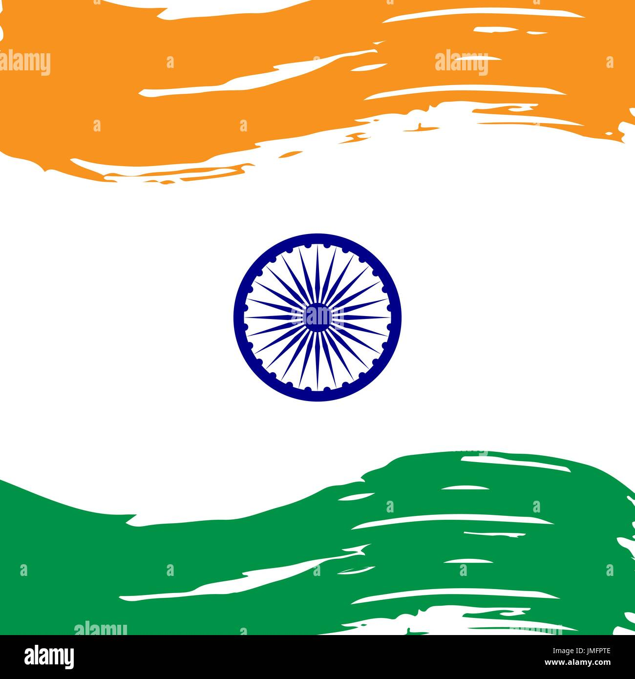 Indian Independence Day concept background - Stock Image