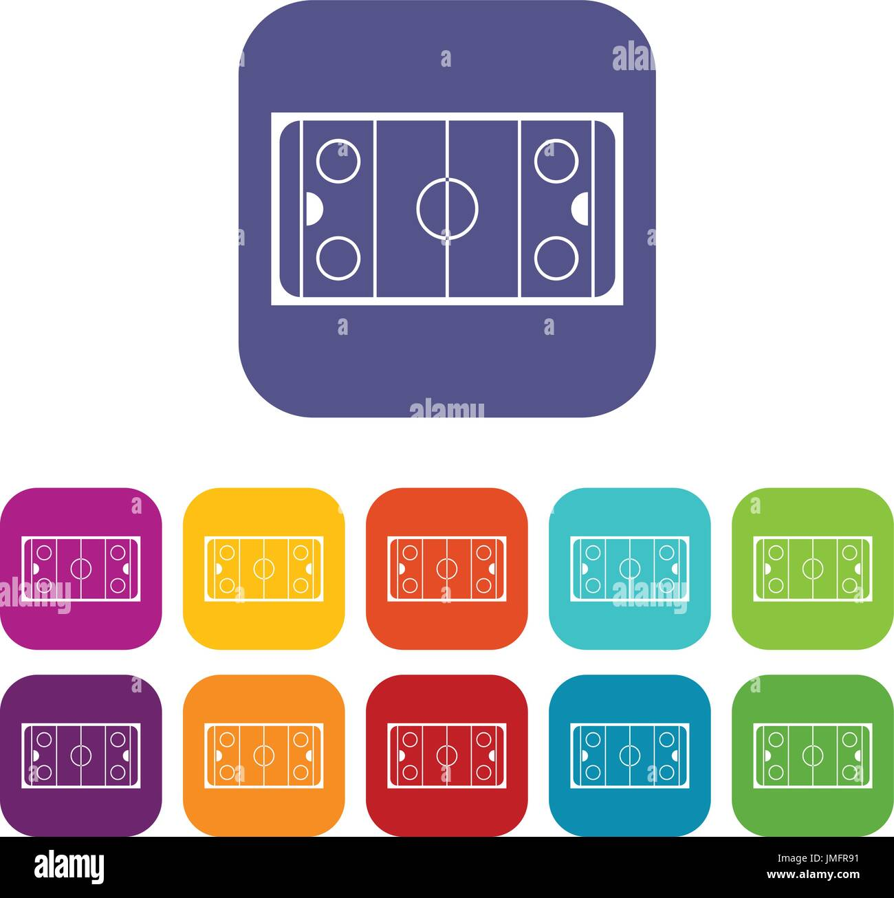 ice hockey rink icons set vector illustration in flat style in rh alamy com