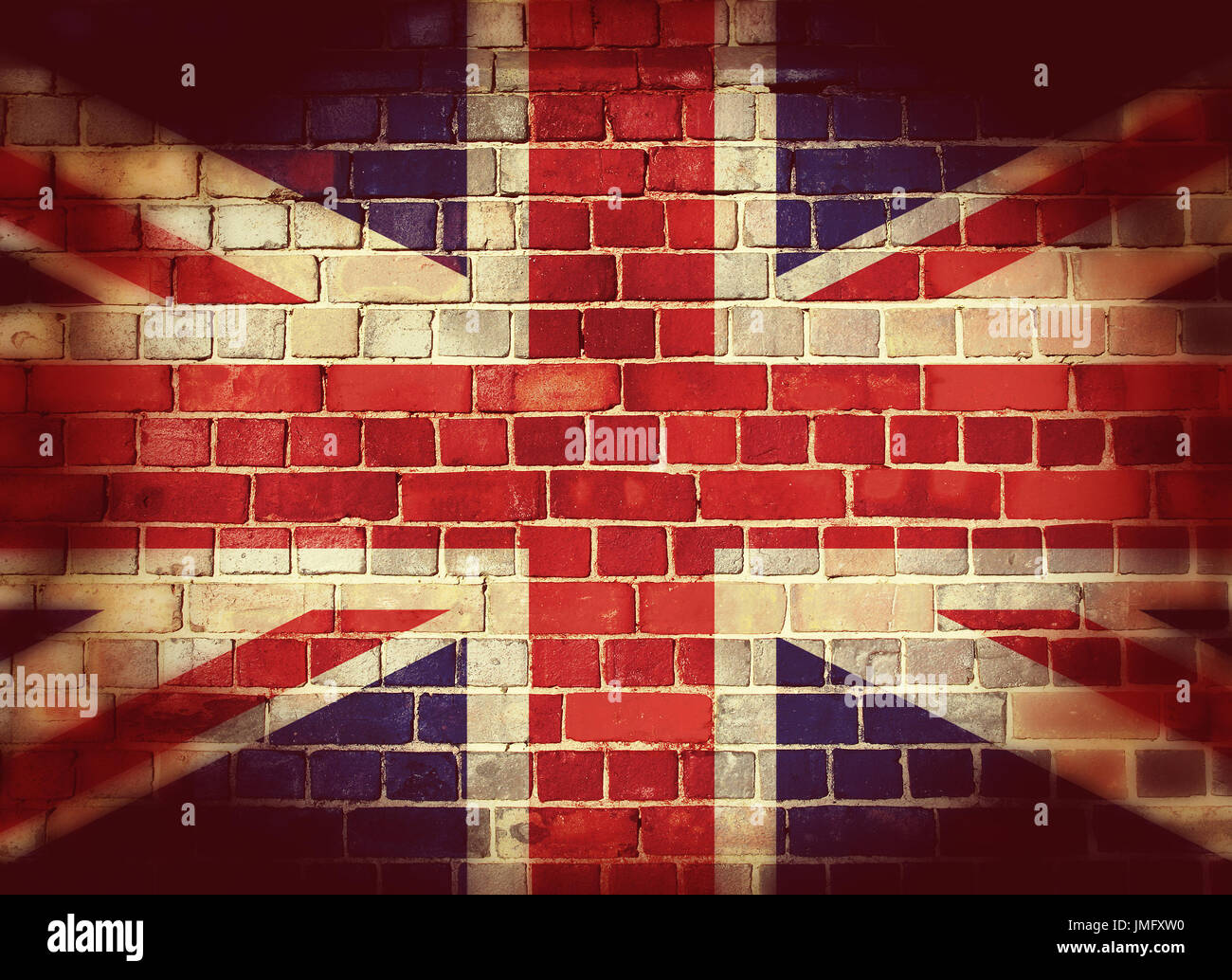painted furniture union jack autumn vignette. Painted Furniture Union Jack Autumn Vignette. Vintage Flag On A Brick Wall With Vignette R