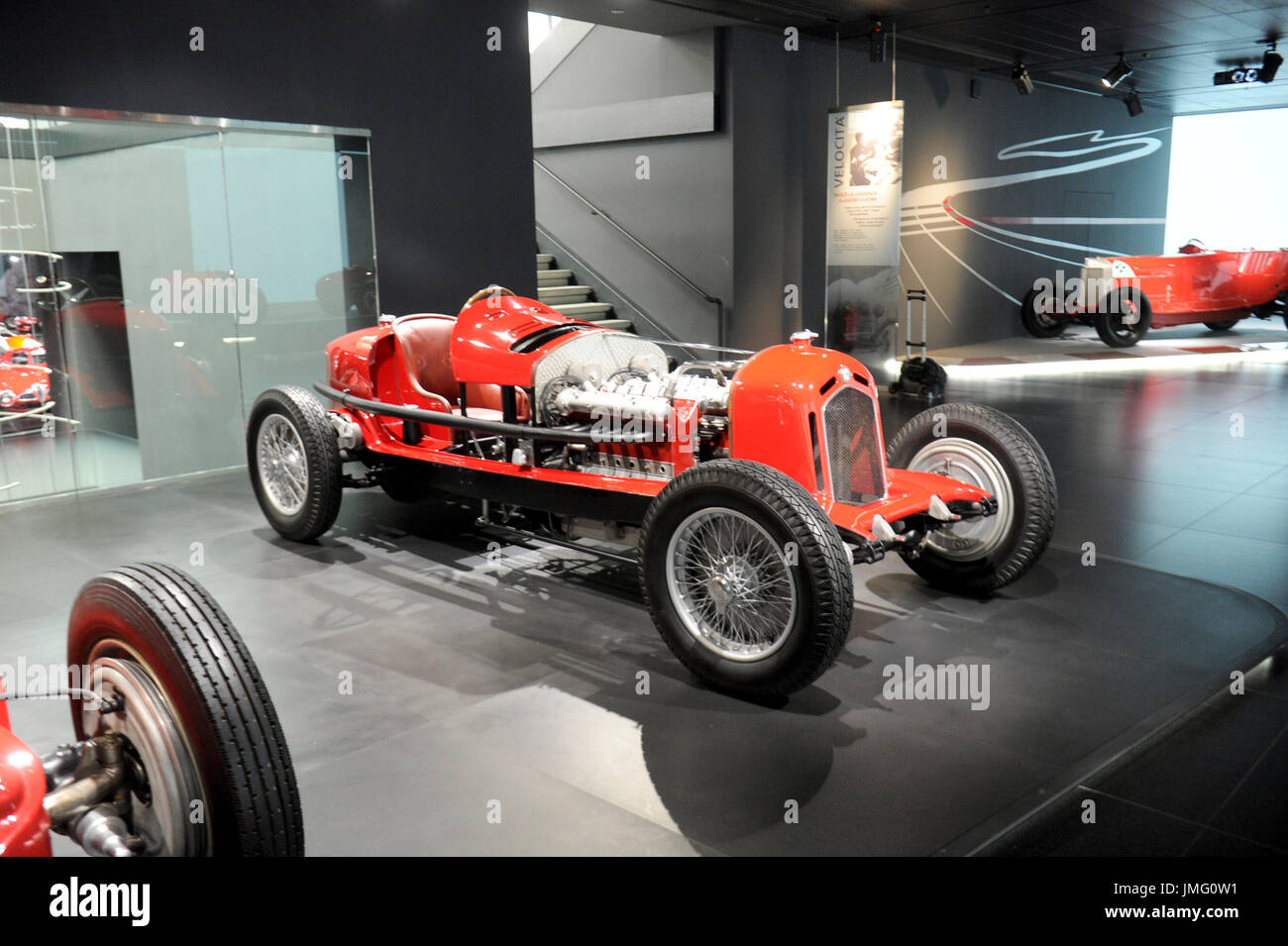 Italy. Arese. The machine Time- historic Alfa Romeo Museum. In the photo: Twin Engine Type P - Stock Image
