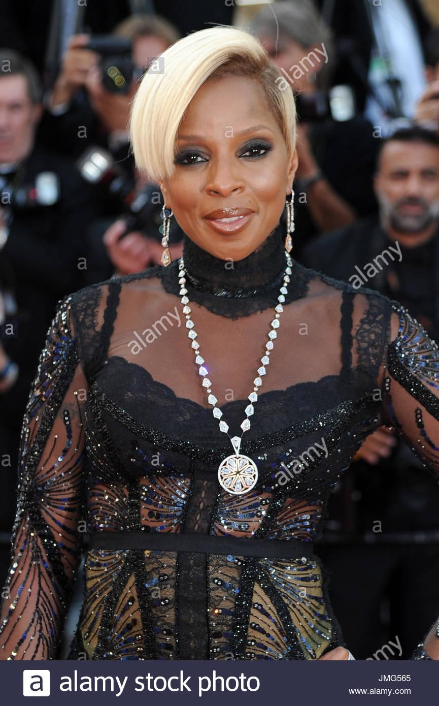 Mary J. Blige Cannes film festival 20-05-2017 - Stock Image