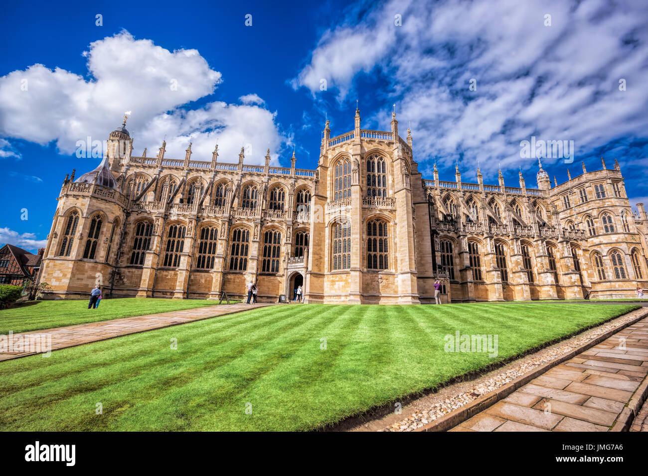 St George's Chapel inside Windsor castle near London, United Kingdom - Stock Image