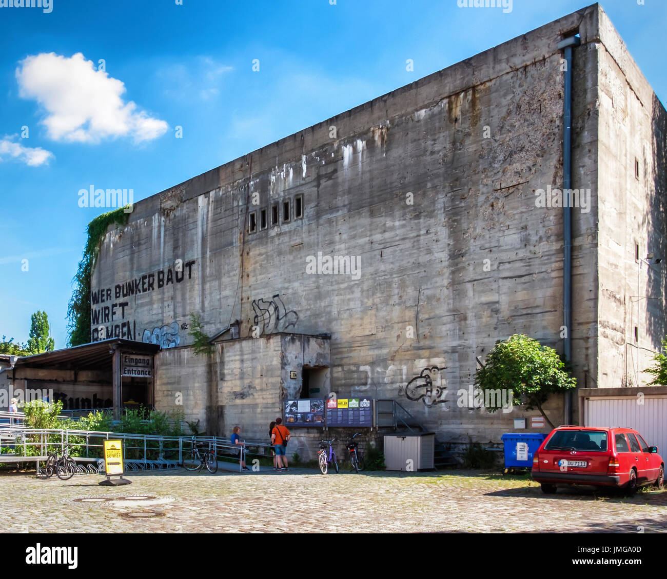 Berlin, Mitte.The Berlin Story Museum in a World War II air-raid shelter is a popular tourist attraction with exhibitions based on historical events.  - Stock Image