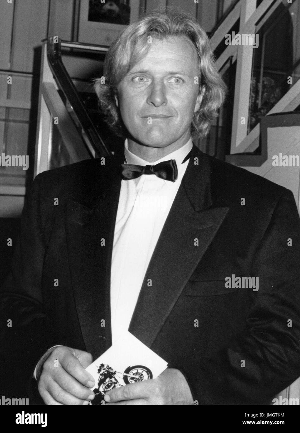 Rutger Hauer, Dutch actor, attends the British Videogram awards in London, England on October 18, 1990. He is well known for his part in science fiction film Blade Runner. - Stock Image