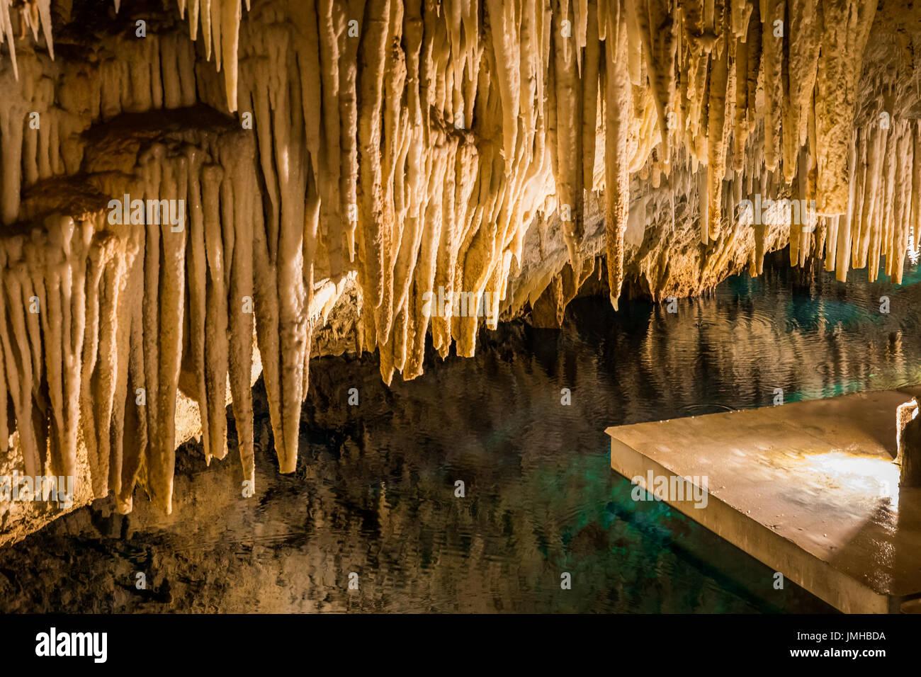 Bermuda Crystal Cave - Stock Image