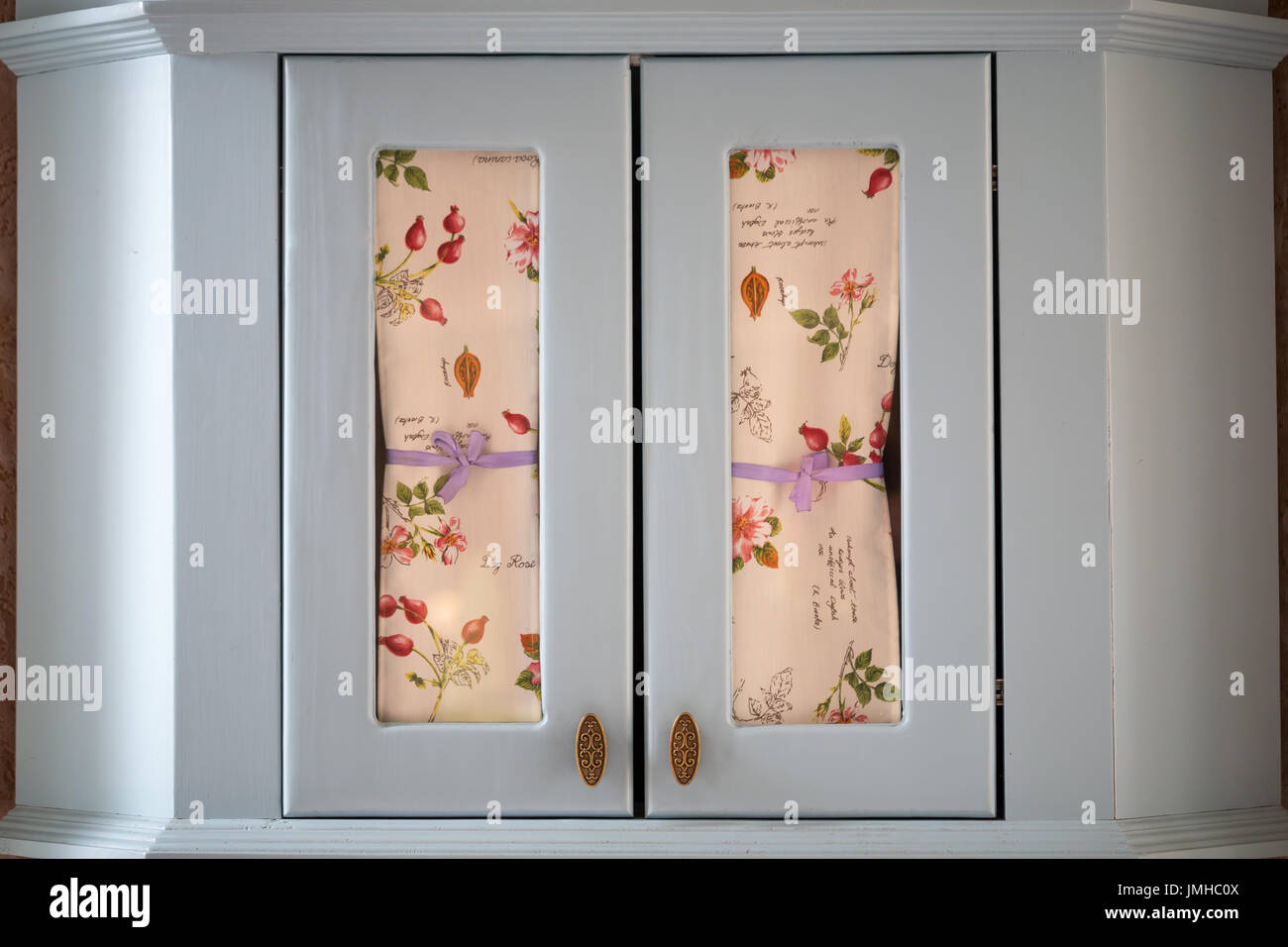 White Vintage Closet With Curtains Stock Photo Alamy