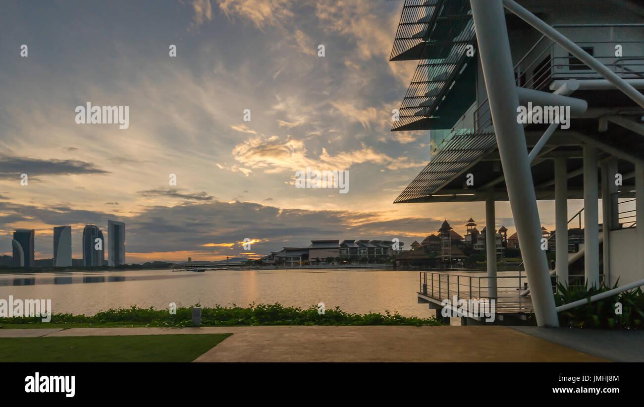 Putrajaya Landscape at Morning Hour - Stock Image