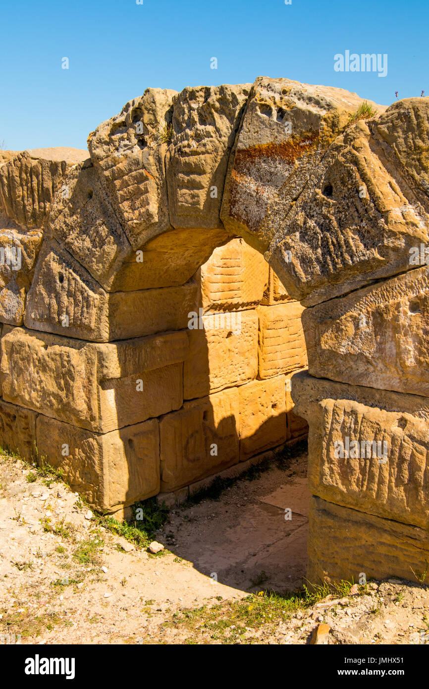 Ancient Coliseum in Tunisia Stock Photo