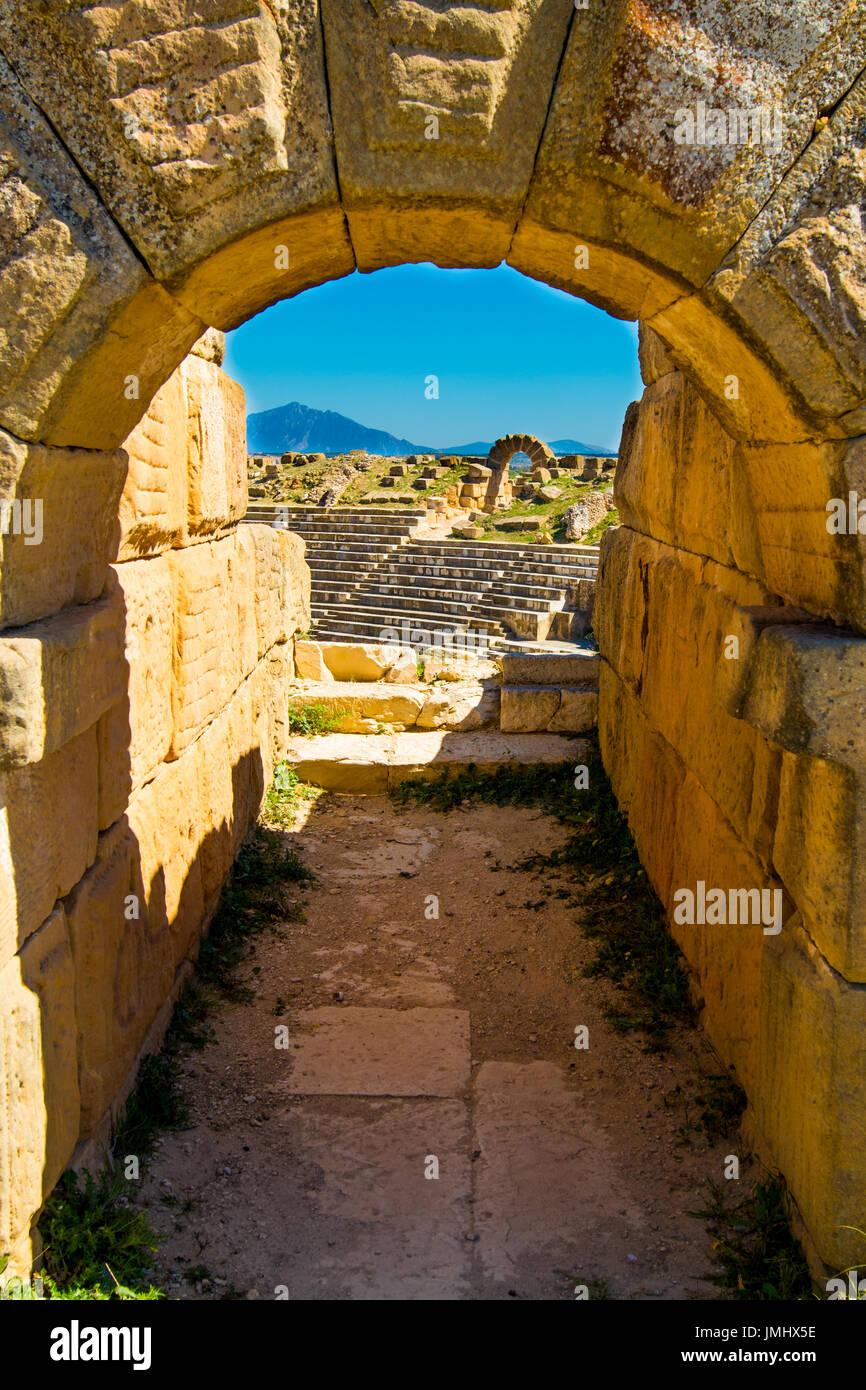 Ancient Coliseum in Tunisia Stock Photo