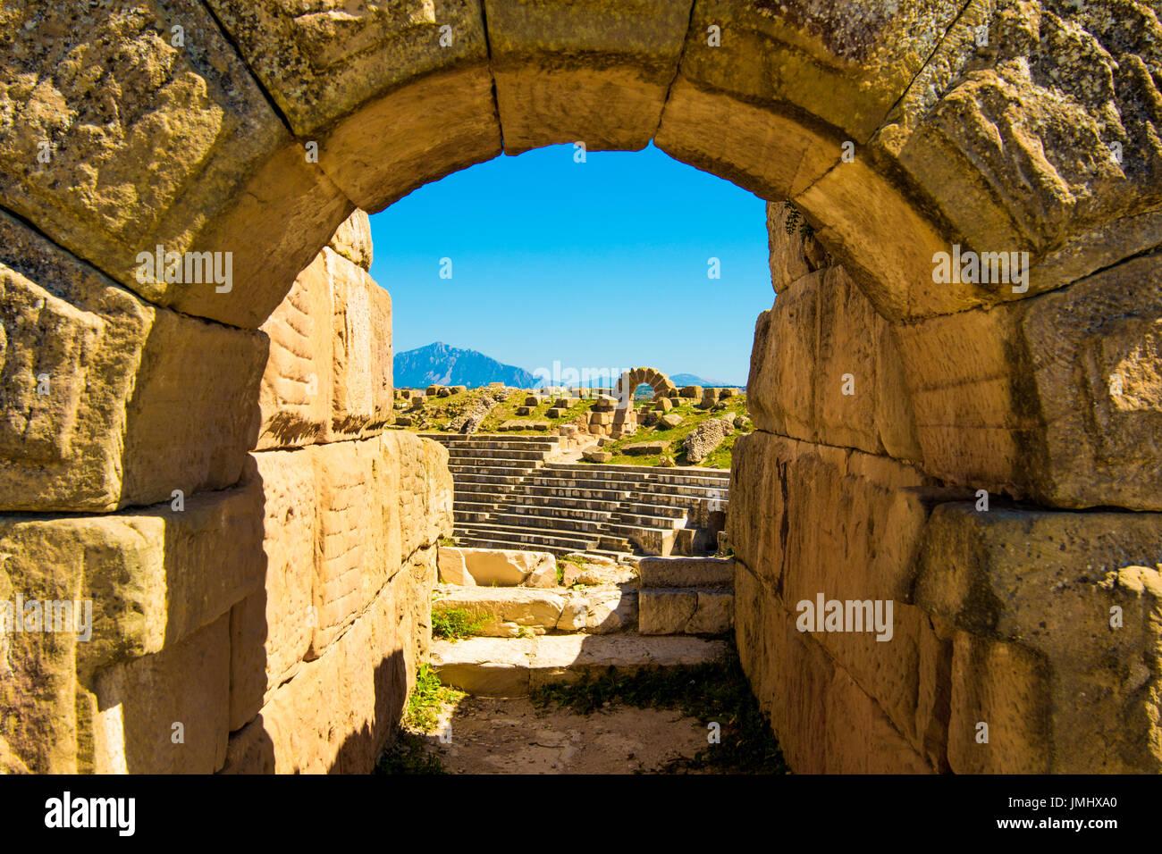 Ancient Coliseum in Tunisia - Stock Image